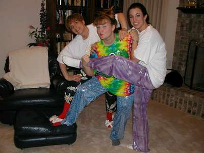 Aunt Char, Shannon and I being the sexy mama's that we are in our happy pants.