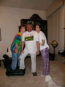 Shannon, Uncle Mike and I in our happy pants after a long day of work.  This was taken while Shannon and I were in OKC doing our last clinical rotations.