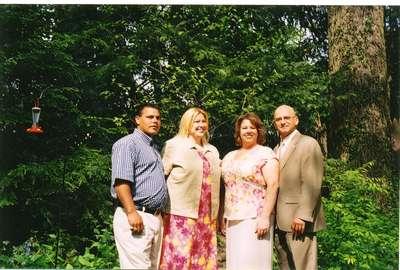 Bill, Jennifer, Tamara (bridesmaid) and her newly wed husband