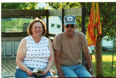 Mom with Grandpa Irvin