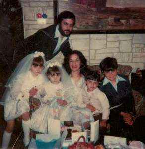 This is Melissa and Jennie at their Communion - along with Uncle Billy, Aunt Carmen, Eddie, and Bill!