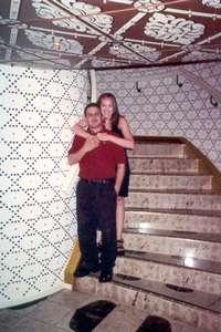 **6/3/2002** Dan and me outside of the Taj Mahal Lounge
