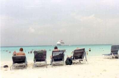 **6/1/2003** First port of call, Half Moon Cay, Bahamas.