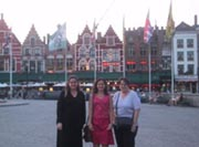 Laurie, Jennie, and Mom in Belgium