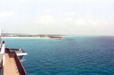 **6/1/2003** View of Half Moon Cay, Bahamas from the ship