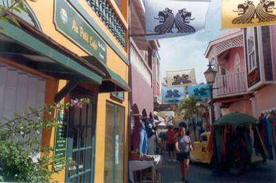 **6/4/2003** St. Maarten, the Yoda guy is down this alley