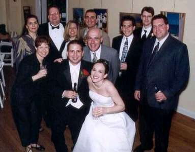Dan and Steph with Ricki, Lucy, Brian, Robin, Michael, Ray, Billy, Dave, and Terry