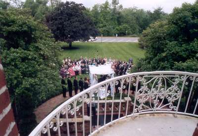 Shot from above inside the Mansion