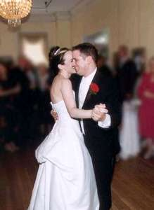 Dan and Steph during the first dance to Come Away with Me by Norah Jones