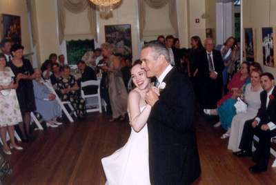 Dad and me during the father-daughter dance...we used the ACOUSTIC version of Rod Stewart's Forever Young