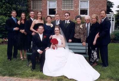 Dan and Steph with Dan's mom's family...(l-r: David, Alexis, Jason, Allison, Esther, Dale, Adam, Tema, Pop, Sydney, and Chris)