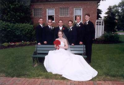 Steph, Dan, and the Guys (l-r: Jason, Adam, Stu, Curt, and Dave)