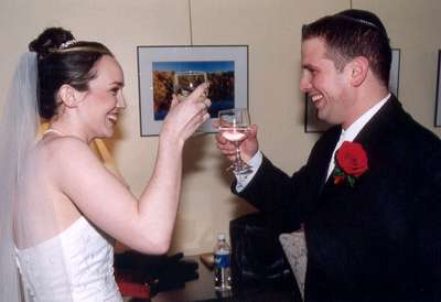 Me and Dan toasting each other with WATER...it's all we had at the time.