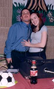 March 2003 Dan and me posing for a picture..courtesy of Mel...we were working a bar mitzvah