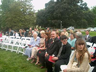 Before the ceremony... (photo courtesy of Uncle Greg)