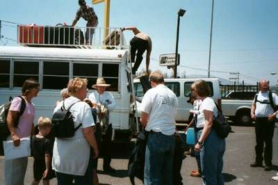 Loading the bus (4/6/02)