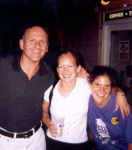 1999 Dale, me, and Samantha at the Java Shack