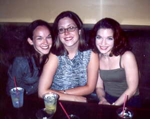 July 2001 me, Jackie, and Judy at Tommy Joe's in Bethesda, MD