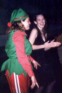 December 2002 Heather (dressed as an elf) and me dancing at the ACC holiday party