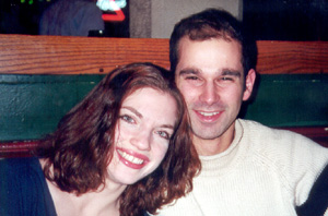 February 2001 Judy and Stu at a nice Irish bar in Bethesda, MD