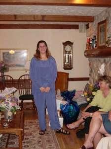 Heather at her bridal shower in Menomonee Falls.