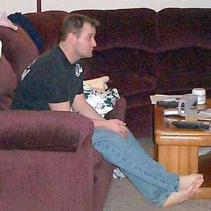 Mike relaxing at home