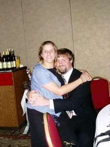 Heather and Mike at a friends wedding