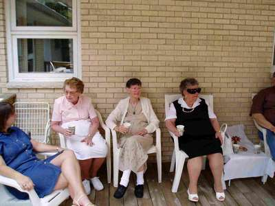 Our 3 Grandmothers relaxing.