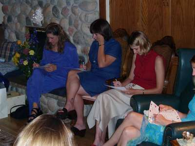 playing a bridal shower game