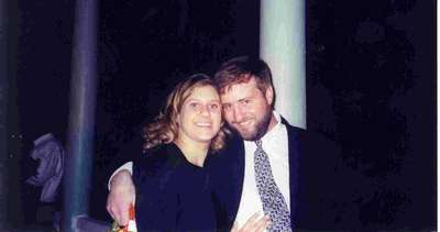 Heather and Mike at their friend Tarun's wedding in October 2002.
