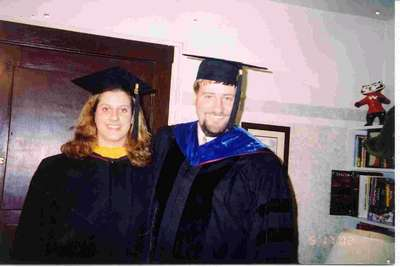 Heather and Mike at Graduation 2002 from Univeristy of Wisconsin-Madison. Go Badgers!