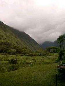 Picture of the valley we rode through on horseback. This is where parts of the movie Waterworld were filmed.