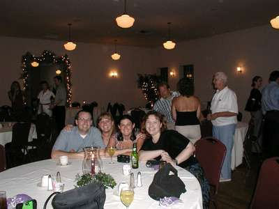 Brian, Me, Melissa and Niki taking time to pose at the rehearsal dinner.