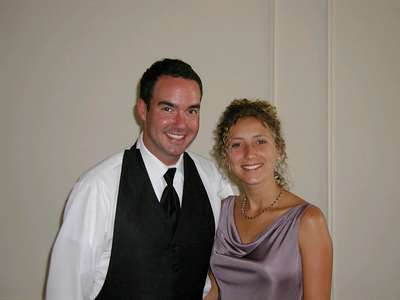 Craid and JoAnn before the wedding ceremony.