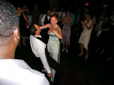 Julie and Craig dancin the night away.
