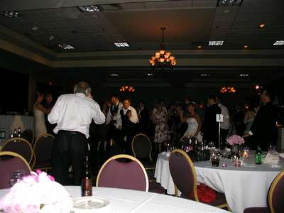 My dad doing the running man for the family dance off.