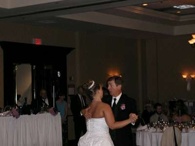 Dance with my dad at the reception.