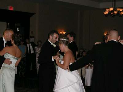 The bridal party dance.