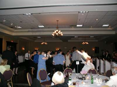 Family dance off at the reception.