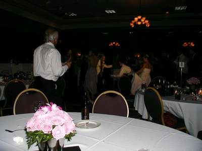 My grandpa and my brother in a dance off at the reception.
