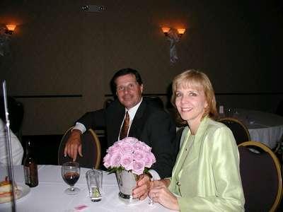 My god-parents enjoying the reception.