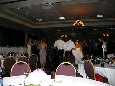 My dad, marc and I during the family dance off.