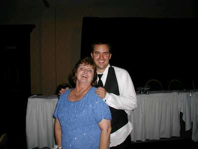 Marc and mom after a long night of drinking and dancing.