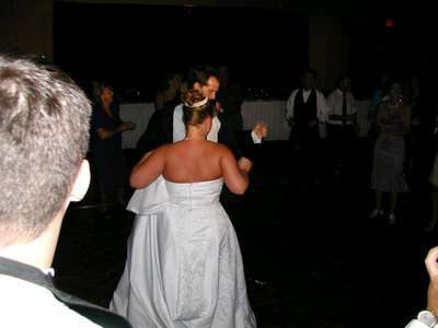 Me and Alec joining in on the family dance off.