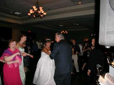 Me and Dennis Johnson dancing together.
