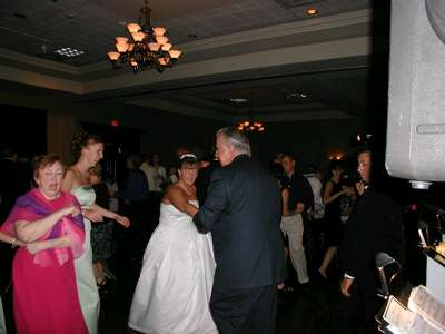 Me and Dennis Johnson dancing together.