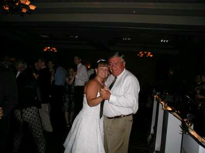 Me and my uncle Mike sharing a slow dance together.