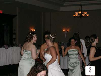 Me and the bridesmaids dancing at the reception.