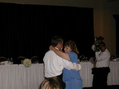 My mom and dad dancing to a surprise song celebrating their anniversary.