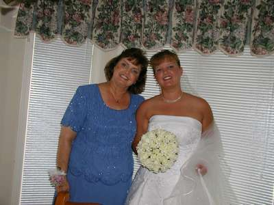My mom and I before the wedding.